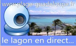 Plage Guadeloupe Webcam en direct du lagon Météo à Saint François